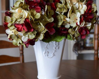 Floral Hydrangea Stems | Hand Blended Hydrangea Stem | Hydrangea | Artificial Silk Hydrangea | Hydrangea Stems for Vase | Floral Centerpiece