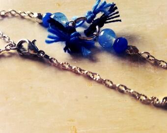 Ice blue chain bracelet