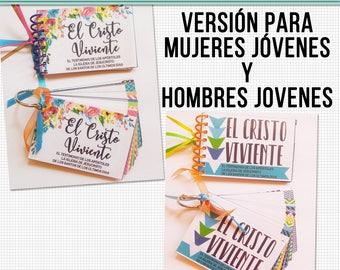 El Cristo Viviente-Tarjetas de Memorización Imprimibles Versión para Mujeres Jóvenes y Hombres Jovenes  The Living Christ in Spanish