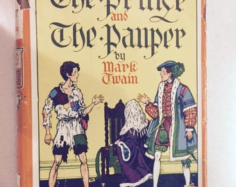 The Prince and the Pauper Vintage Children's book by Mark Twain