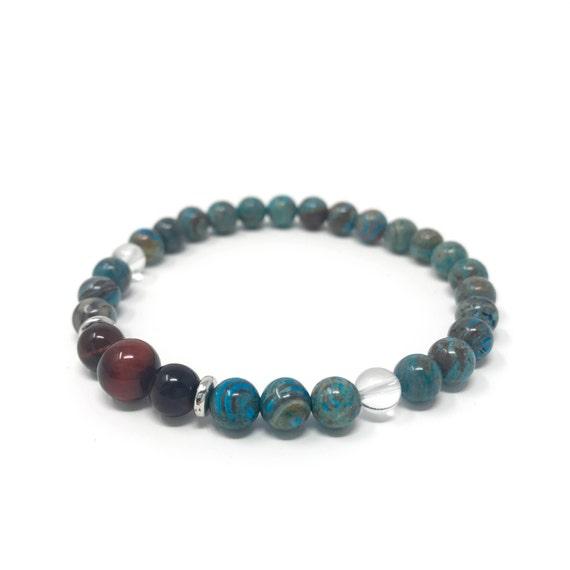 Red Tiger Eye Mala Bracelet, Crazy Lace Agate Matching Mala Bracelet, Yoga Inspired Jewelry, Natural Healing Beads, Boho Chic Bracelet