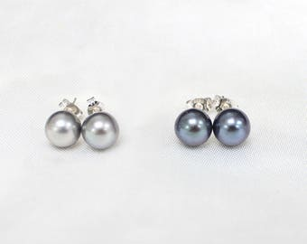 UNBELIEVABLE PRICE! 8mm Tahitian Pearls on Sterling Silver Stud Earrings