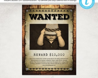 Wanted poster Etsy