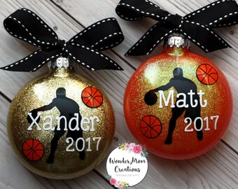 Basketball Player Personalized Ornament; Basketball Coach Ornament; Personalized Basketball Christmas Ornament; Basketball Team Ornament