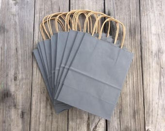 250 Pack Gray Gift Bags/Wedding Welcome Bags/Charcoal Gray Gift Bags/Grey Gift Bags
