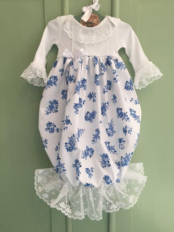 Victorian Baby Girl Gown Newborn Girl Coming Home Outfit