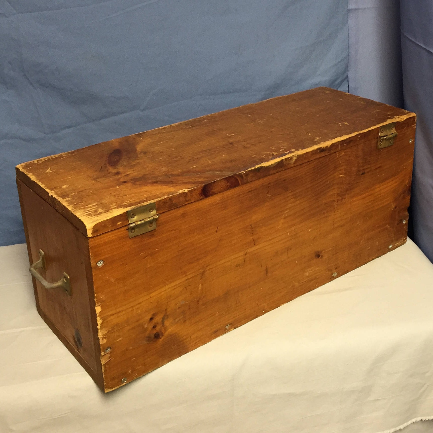 Wooden Chest Hardware ~ Wooden box with handles storage trunk