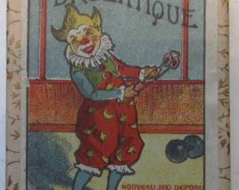 antique dexterity game puzzle clown juggler and circus