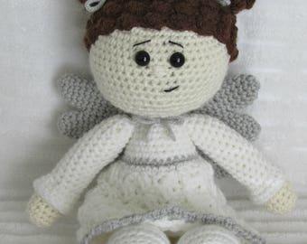 Angel, Crochet Doll, Angel Stuffed Animal, Crochet Angel, Amigurumi Doll, Soft Angel Doll, Angel Baby Doll, Guardian Angel Doll,