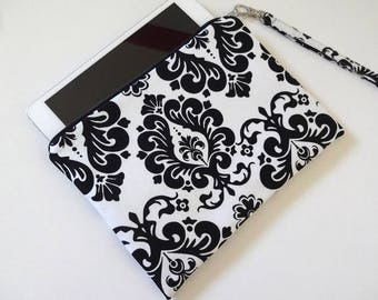 iPad mini Zipper Wristlet, Zipper Pouch, Bridesmaid Gift, Wristlet Clutch, Cosmetic Bag, Makeup Bag - 50x4 Selections, Floral, Dot, Damask