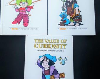1970s Value Tale Books (set of 3)- Humor/Love/Curiosity