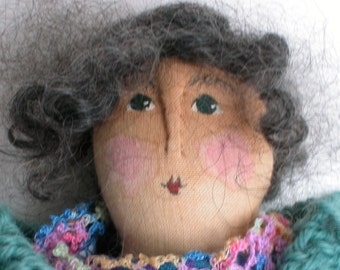 What a Wonderful Face. One of My Dolls on a Greeting Card - Blank on the Inside - Use it to Invite Your Friend to Tea!
