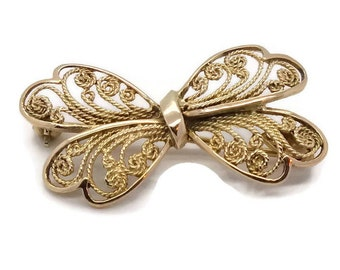 Vintage Butterfly Brooch, Gold Butterfly Brooch, Butterfly Pin, Butterfly Brooch, Vintage Butterfly, Butterfly Jewellery, Gold Brooch