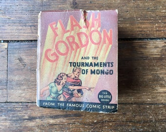1935 Flash Gordon and the Tournaments of Mongo, Big Little Book.  Alex Raymond. FR. Western Publishing