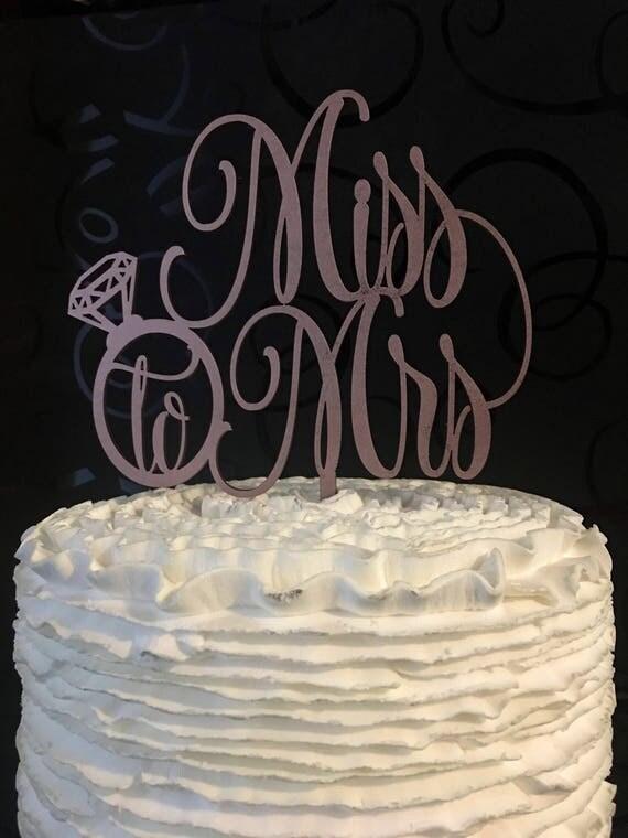 Bridal Shower Decor, Bridal Shower Cake Topper, Miss to Mrs Cake Topper, Rose Gold Cake Topper, Rose Gold Glitter Cake Topper