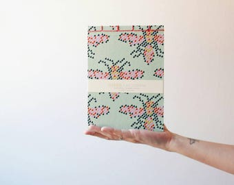 Handmade notebook, japanese bookbinding, pink notebook, octopus notebook, handmade journal, bookbinding, made in barcelona
