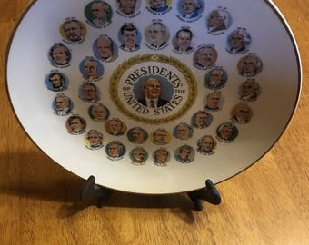 Vintage President Plate with Gerald Ford as the Center Piece . . .