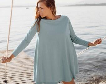 Swing Nightie 100% Organic and Fairtrade® Cotton. Women's Nightie, Nightdress, Nightgown, Pyjamas, Sleepwear, Organic Cotton Nightwear GOTS