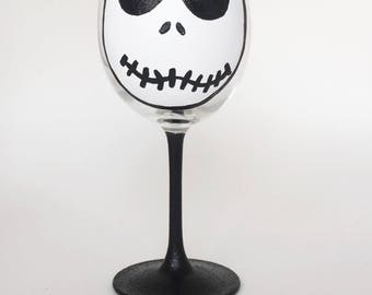Skeleton wine glass//halloween wine glass