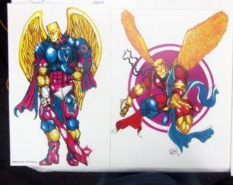 Archangels The Saga Original Artwork Artist Proof Lot of 8 Comic Development