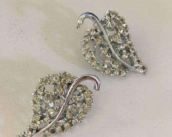 Dodds Rhinestone Leaf Earrings