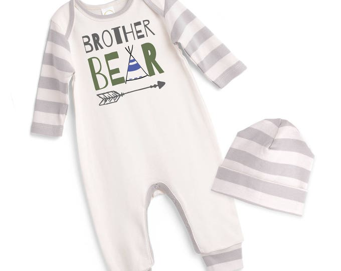 Newborn Boy Coming Home Outfit, Baby Brother Romper Outfit, Baby Boy Coming Home Outfit, Baby Little Brother Outfit TesaBabe