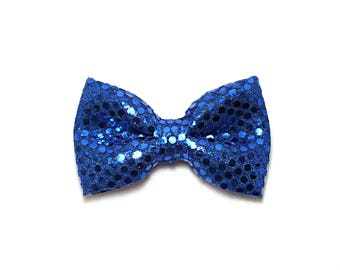 Blue Party Bow,  Dog bow tie, Cat bow tie, pet bow tie, collar bow tie, wedding bow tie