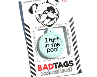 Cheeky Fun Dog Id Tags For Funny Pets By Badtags On Etsy