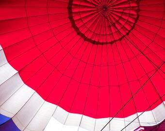 """Wall Art """"Red, White & Blue"""", Hot Air Balloon"""
