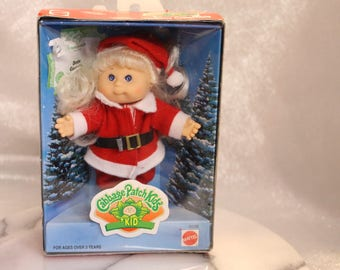 Cabbage Patch Kids Holiday Collectible Denise Georgette in a Santa Clause Outfit Birth Certificate 1997