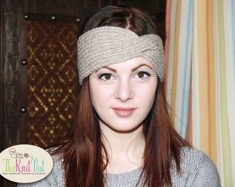 Twist Turban Headband, Knit Headband, Twisted Headband, Turban Headband, Turban Twist Band, Winter Ear Warmer, Ear-warmer Headband