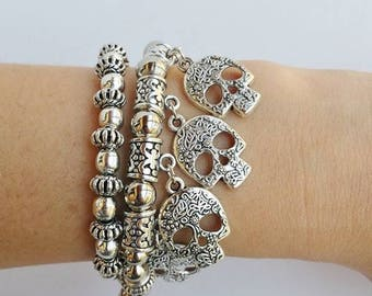 Belly dance jewelry - Silver Gipsy Bracelet - tribal chic bracelet - boho chic bracelet - Belly Dancing bracelet - native american - boho