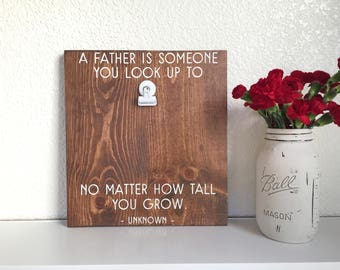 Father's Day Wood Sign • Father's Day Quote Frame