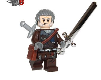 Custom The Witcher 3 Geralt of Rivia Minifigure made using LEGO and custom parts