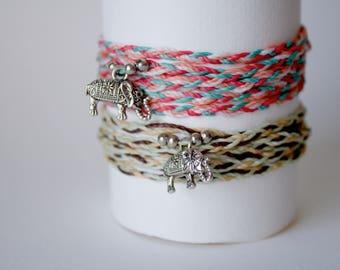 elephant Wrap jewellery , Wrap Anklet, Silver elephant Anklet, Festival bohemian Bracelet