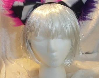 Fuzzy Cheshire Cat EARS on a headband.