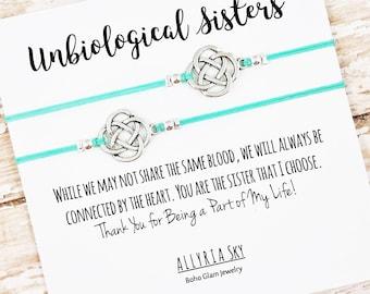Unbiological Sister Bracelet Set   Best Friend, Soul Sister Bracelets   Big Little Sorority   Best Friend Gift Jewelry   Matching Bracelets