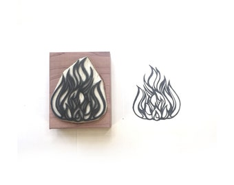 Fire / Flame Rubber Stamp   007047