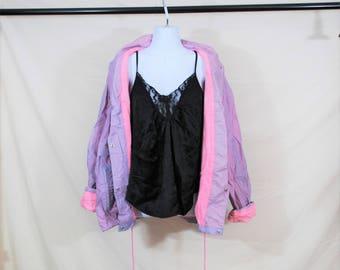 VTG 80s 90s Windbreaker Jacket | Pastel Grunge Tumblr Inspired |