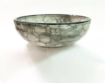 Handmade Bowl with Piped Flower