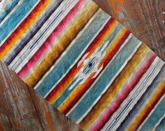 Vintage Serape Saltillo Table Runner