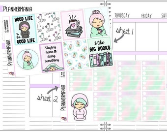 Introvert Stickers Weekly Kit Planner Stickers