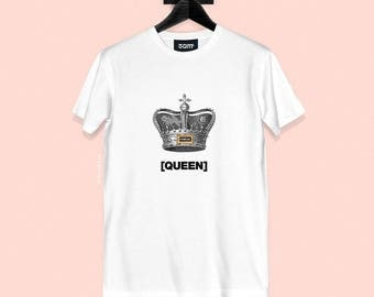 Finesse Queen T-shirt - Vintage Crown Illustration - Streetwear - S, M, L, XL, XXL | Made to Order |