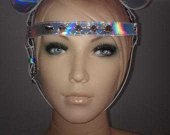 Rainbow head harness with studs