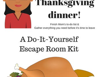 Printable thanksgiving game taboo cards instant download for Escape game diy