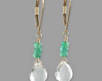 Valentines Day Gift Ideas for Wife - Crystal Earrings - Crystal Earrings for Women - Jewelry Gift Idea for Girlfriend - Emerald Earrings
