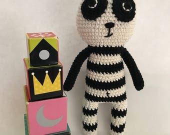Panda baby , Baby toy, Panda amigurumi , crochet Panda, baby deco, Nursery deco, animal toy