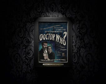 Doctor Who A4 Vintage Style Movie Poster Print cult classic TARDIS scifi art fanart alternate reality neverwere retro