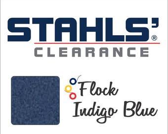 "12"" x 5 Yards - Stahls' Flock - Craft Roll - Iron-on - Heat Transfer Vinyl - HTV - Indigo Blue"