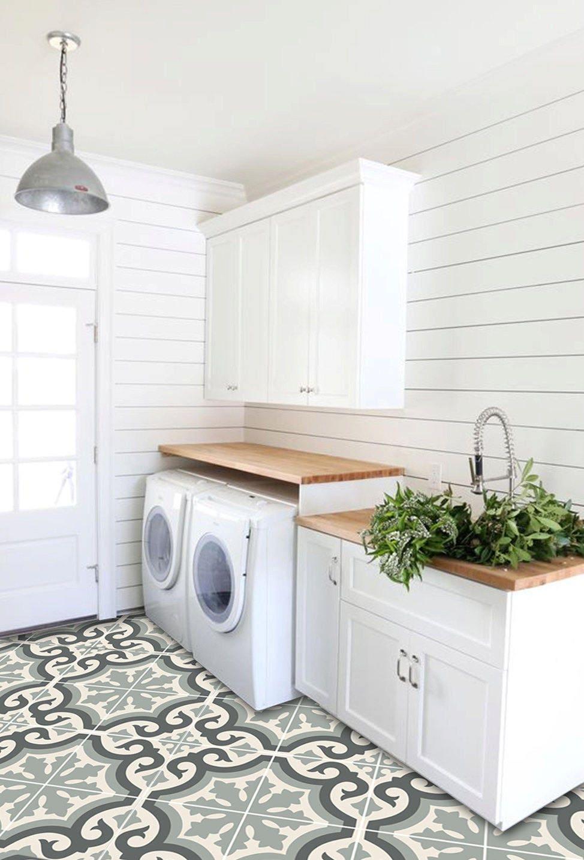vinyl floor tile sticker floor decals carreaux ciment encaustic palermo tile sticker pack in. Black Bedroom Furniture Sets. Home Design Ideas